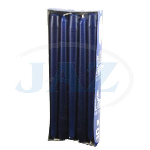 Sviečky tm.modré - 10ks