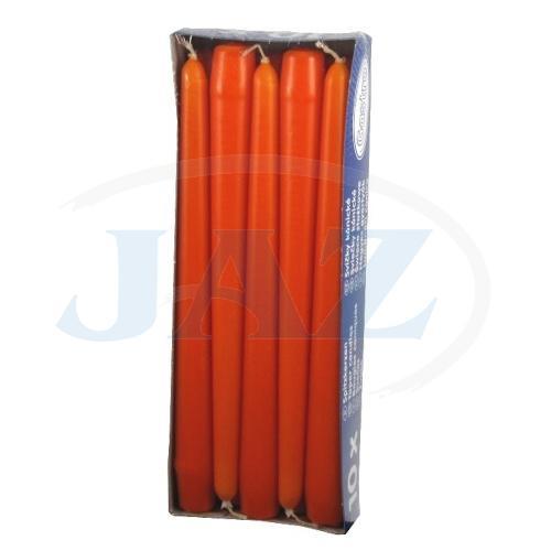 Sviečky oranžové - 10ks