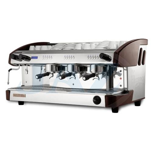 Kávovar 3 páky, kapučinátor, 300káv/h, WENGE, EC 3P/W/D/C