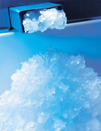 Výroba ľadu v reštauráciách a hoteloch