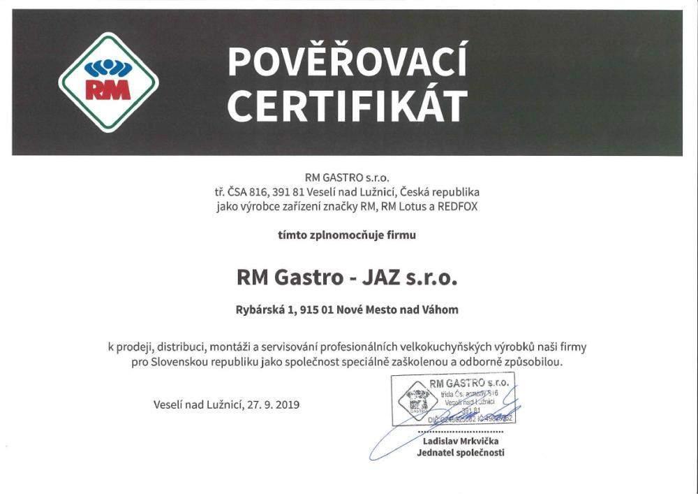 certifikat rm